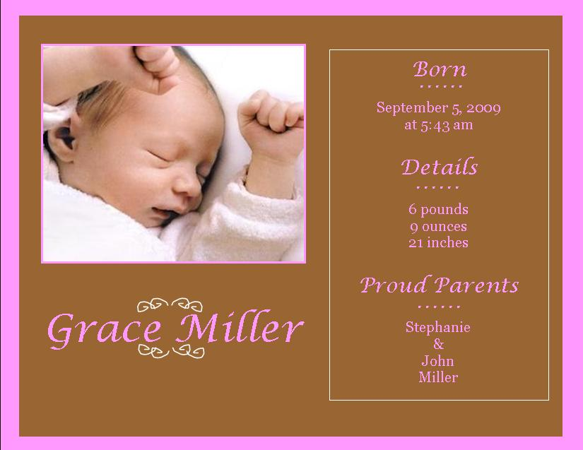 Birth Announcement Wording Pictures to Pin PinsDaddy – Birth Announcement Examples